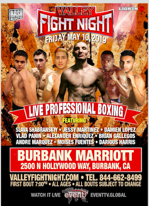 "BASH BOXING "" VALLEY FIGHT NIGHT "" MAY 10TH"